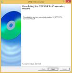 完成 NTFS/HFS+ 转换向导